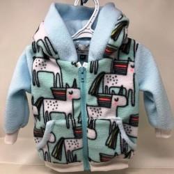 Manteau pour bébé bleu pâle