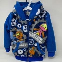 Robot manteau à capuche bleu