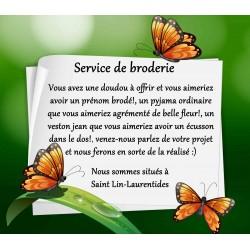Service de broderie